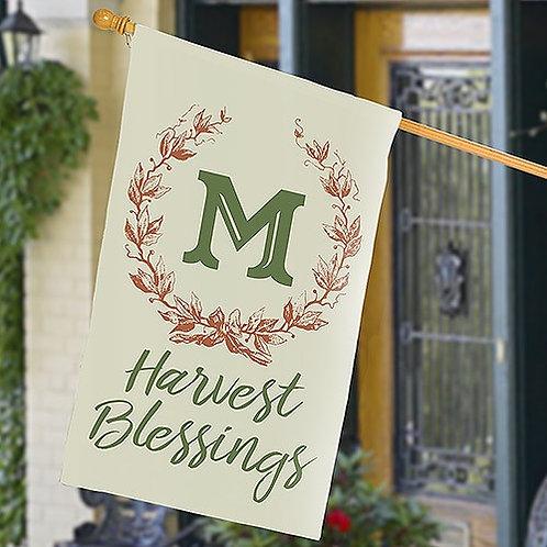 Harvest Blessing Wreath House Flag