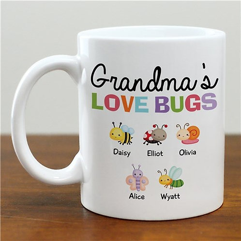 Personalized Grandma's Love Bugs Mug