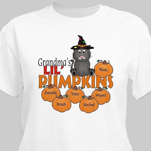 Personalized Lil Pumpkins Halloween T-Shirt