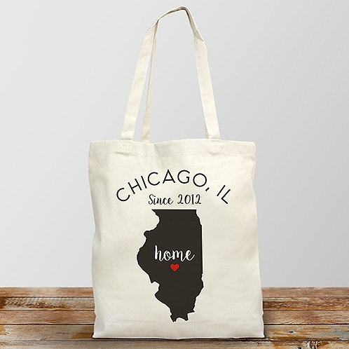 Personalized Home State Tote