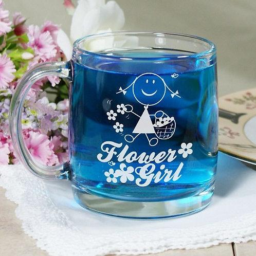 Personalized Flower Girl Glass Mug