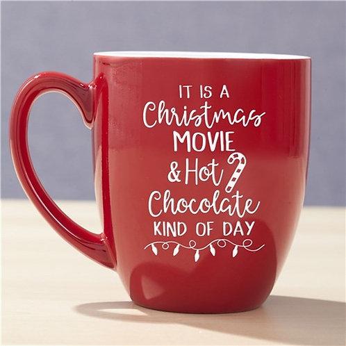 Christmas Movie & Hot Chocolate Bistro Mug Red