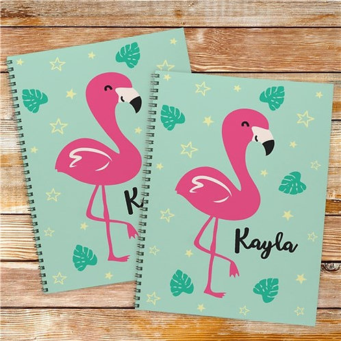 Personalized Flamingo Notebook Set