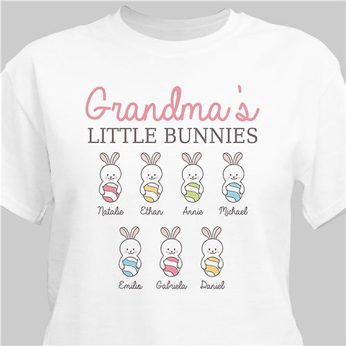 Personalized Grandma's Little Bunnies T-Shirt