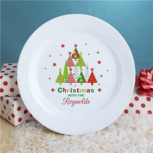 Personalized Christmas Dessert Plate