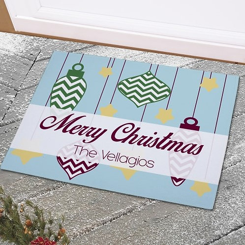 Personalized Christmas Welcome Doormat