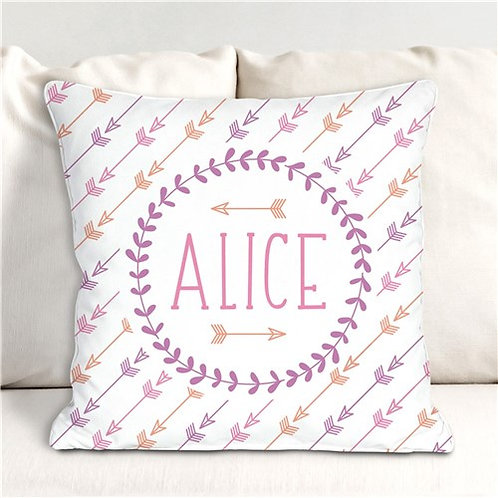 Personalized Arrows Throw Pillow