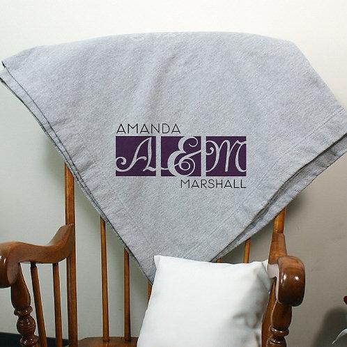 Personalized Wedding Fleece Blanket