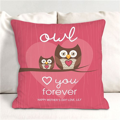 Personalized Love You Forever Throw Pillow