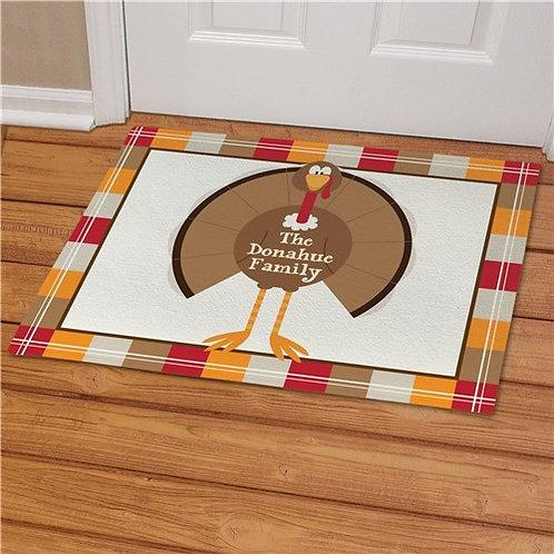 Welcome Turkey Personalized Doormat