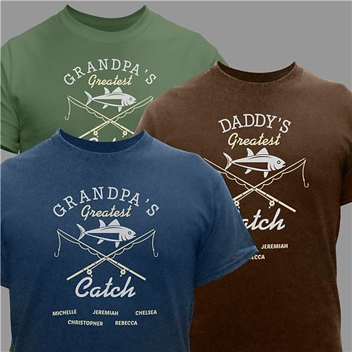 Personalized Greatest Catch T-Shirt