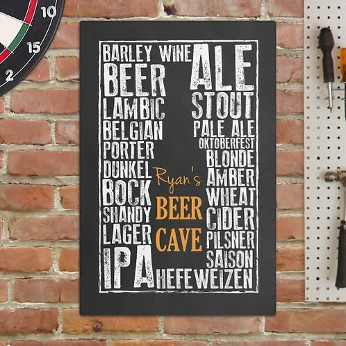 Personalized Beer Cave Wall Sign
