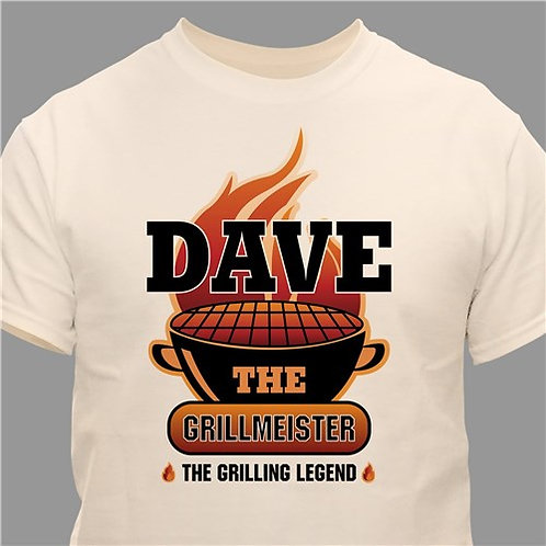 The Grillmeister Personalized Natural T-Shirt