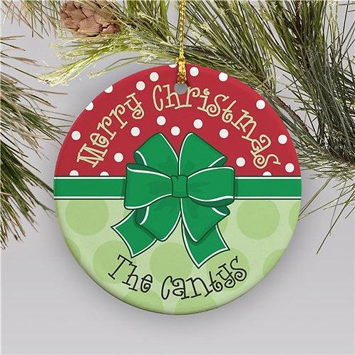 Round Merry Merry Ornament