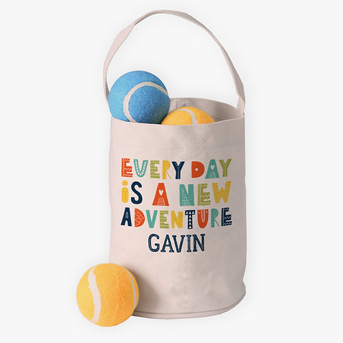 Adventure Custom Canvas Mini Tote Bucket for Kids