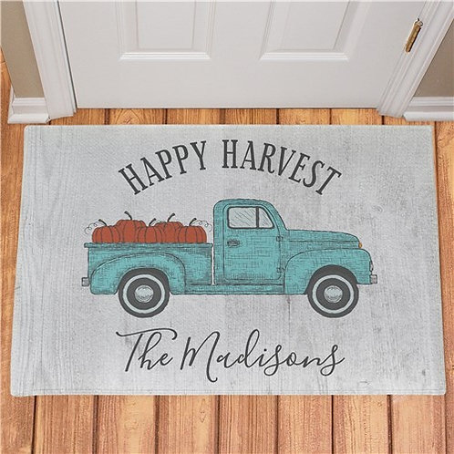 Personalized Happy Harvest Doormat