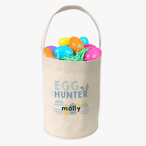Easter Egg Hunter Custom Canvas Mini Tote Bucket