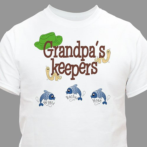 Personalized Fisherman's Keepers T-shirt
