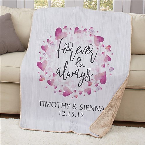 Personalized Forever And Always Sherpa Blanket