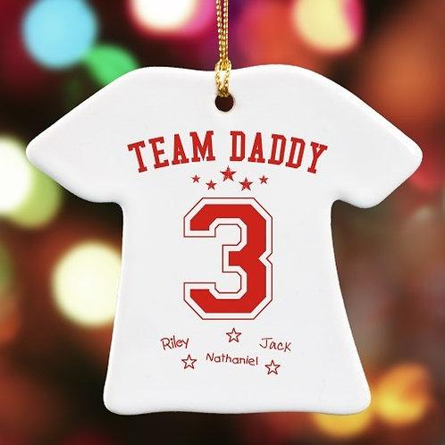 Team Dad T-Shirt Ornament