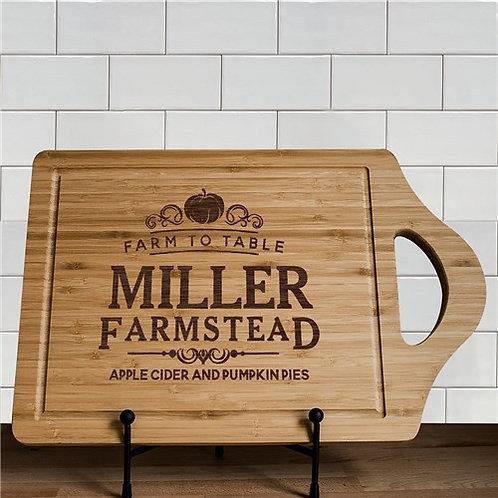 Engraved Farmstead Cutting Board