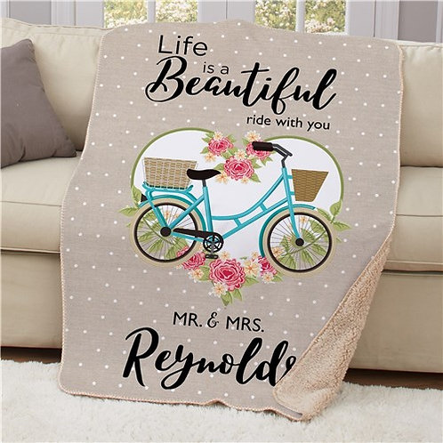 Personalized Life Is A Beautiful Ride Sherpa Blanket