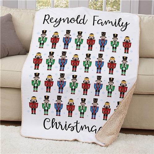 Personalized Christmas Nutcrackers Sherpa Blanket