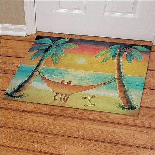 Personalized Beach Sunset Doormat