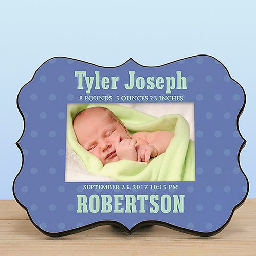 Personalized Baby Scalloped Frame