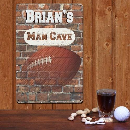 Football Man Cave Wall Sign