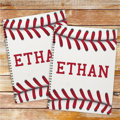 Personalized Baseball Notebook Set