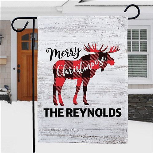 Personalized Merry Christmoose Garden Flag
