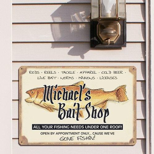 Personalized Bait Shop Sign