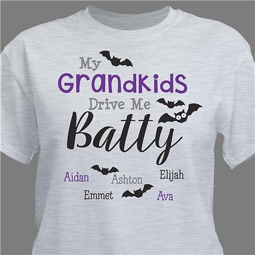 Personalized My Grandkids Drive Me Batty T-Shirt