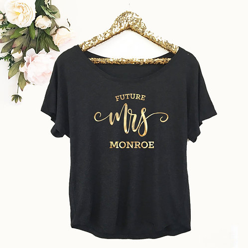 Future Mrs. Personalized Shirt - Loose Fit
