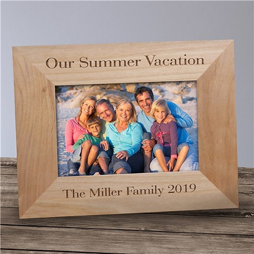 Our Vacation Wood Frame