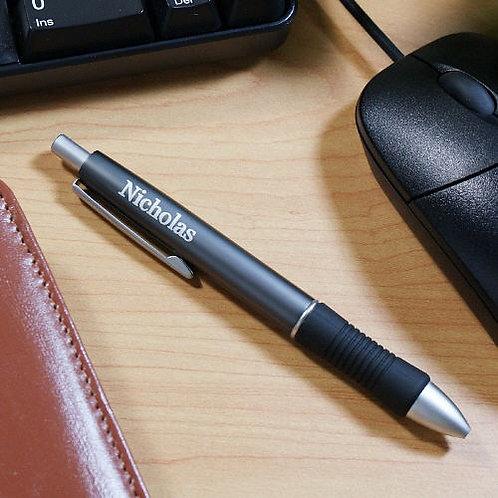 Name Metallic Gray Engraved Ballpoint Pen