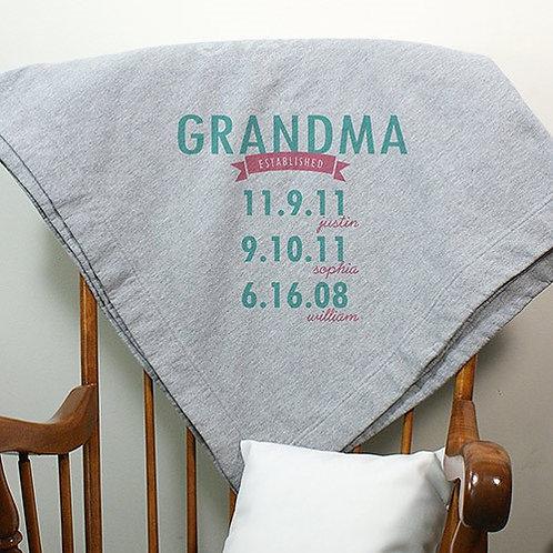 Personalized Mom Established Fleece Stadium Blanket
