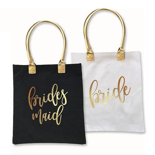 Gold Bridal Party Tote Bag