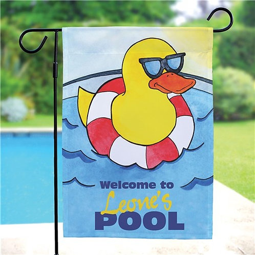 Personalized Cool Duck Swimming Pool Garden Flag