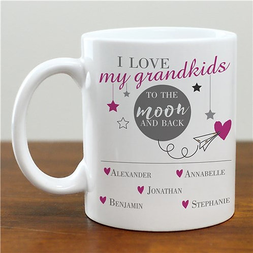 Personalized Moon And Back Coffee Mug