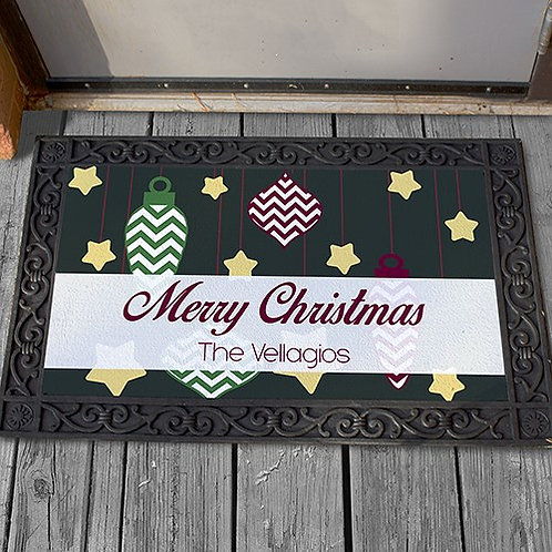Personalized Merry Christmas Doormat