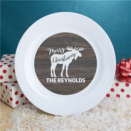 Personalized Merry Christmoose Plate