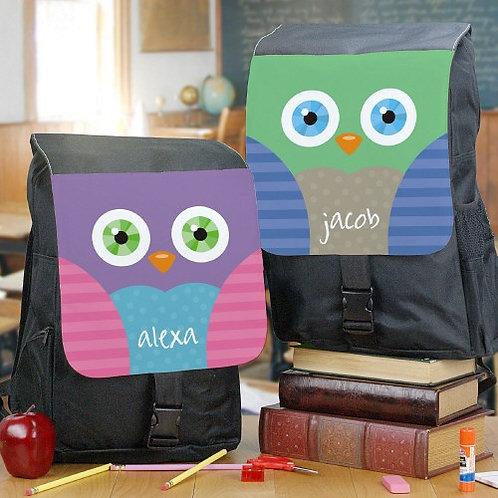 Personalized Owl School Bag