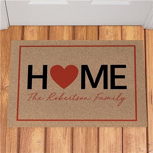 Personalized Home Heart Doormat
