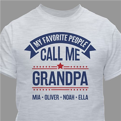 Personalized My Favorite People Call Me Grandpa T-Shirt