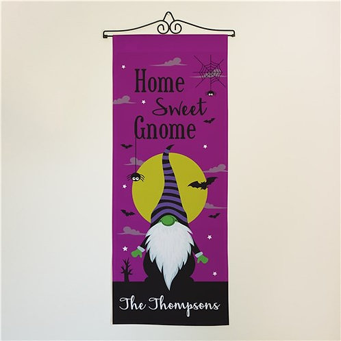 Personalized Home Sweet Gnome Wall Flag