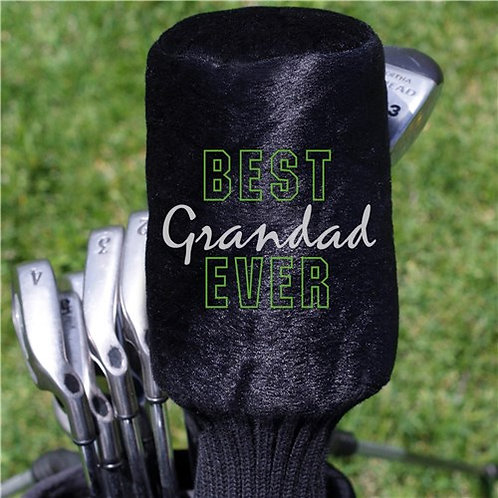 Embroidered Best Grandpa Ever Plush Golf Club Cover