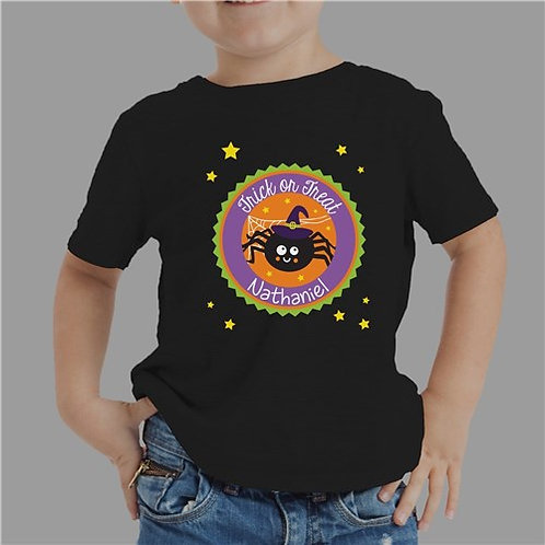 Personalized Trick Or Treat Spider T-Shirt