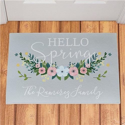 Personalized Hello Spring Doormat